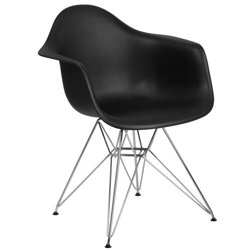 Our Alonza Series Black Plastic Chair with Chrome Base is on sale now.