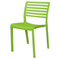 Savannah Outdoor Stackable Armless Side Chair - Green
