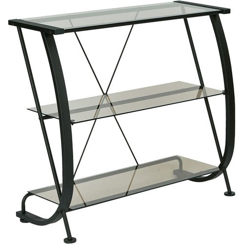 Our OSP Designs Horizon 3-Shelf Bookcase with Powder Coated Metal Frame - Black is on sale now.