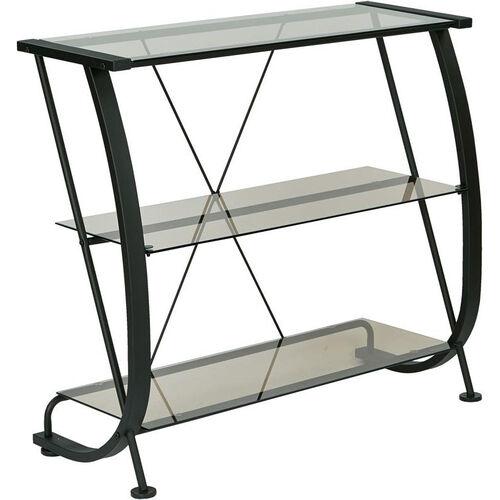 OSP Designs Horizon 3-Shelf Bookcase with Powder Coated Metal Frame - Black