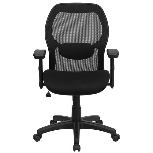 Our Basics Mid-Back Mesh Executive Swivel Office Chair with Adjustable Lumbar & Arms, Black is on sale now.