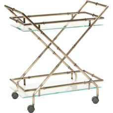 OSP Designs Lanai Serving Cart - Antique Brass