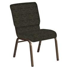 18.5''W Church Chair in Perplex Mint Chocolate Fabric - Gold Vein Frame