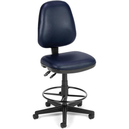 Our Straton Series Anti-Microbial and Anti-Bacterial Vinyl Task Chair with Drafting Kit - Navy is on sale now.