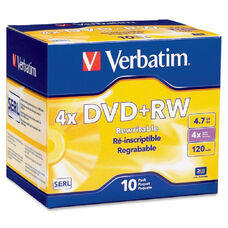 Verbatim Datalife Plus Branded Dvd+Rw Disc - Pack Of 10