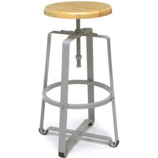 Endure Tall Stool - Maple Seat with Gray Legs