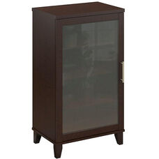 Somerset Frosted Glass Door Audio Cabinet - Mocha Cherry