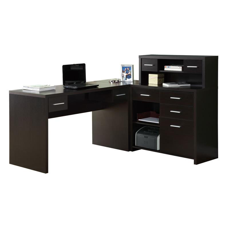 Bon ... Our L Shaped Left Or Right Facing Home Office Desk With Hutch    Cappuccino Is