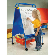 Early Learning Station with Storage Tubs and 2 Dry Erase Boards