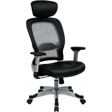 Space 327 Series Professional Light Air Grid Back Chair with Headrest