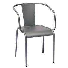 Tara X Stackable Outdoor Arm Chair Titanium Silver