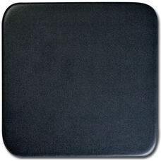 Classic Leatherette Square Coaster - Black