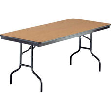 EF Series Quick Ship Rectangular Plywood Core Folding Table - 30