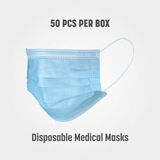 Box of 50 Disposable Medical FDA Approved Face Masks - Class 1 Standard for Medical Use