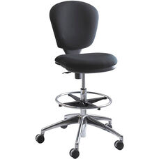 Metro™ 26'' W x 39'' H Extended Height Armless Task Chair - Black