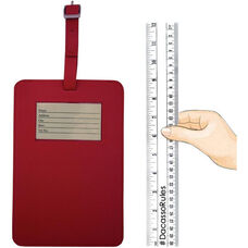 Colors Faux Leather Travelers Envy King Sized Luggage Tag - Rossa Red