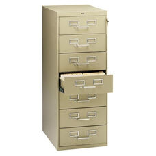 Tennsco 7 Drawer Card Cabinet - withLock - 19