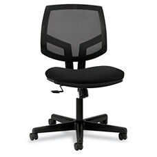 HON® Volt Series Mesh Back Task Chair with Synchro-Tilt - Black Fabric