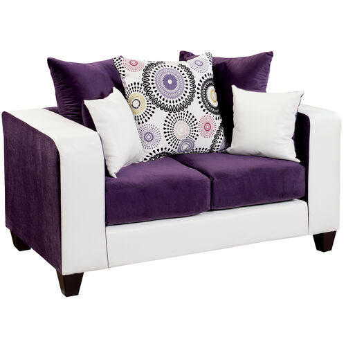 Our Riverstone Implosion Purple Velvet Loveseat is on sale now.