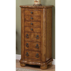 Porter Valley Jewelry Armoire - Distressed Oak