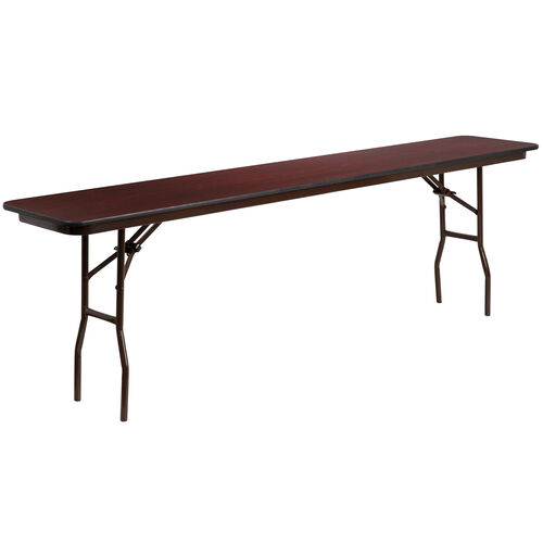Our 8-Foot High Pressure Mahogany Laminate Folding Training Table is on sale now.