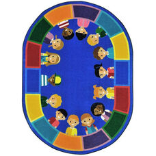 Kid Essentials All of Us Together Nylon Rug with SoftFlex Backing - 64