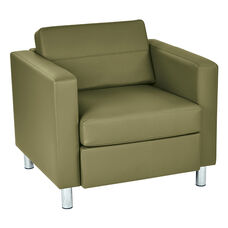 Ave Six Pacific Arm Chair in Dillon Anti-Microbial Vinyl - Sage