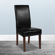 Greenwich Series Black LeatherSoft Parsons Chair