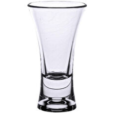 2 oz Shot Glass with Flair Design and Heavy Base in Clear Polycarbonate