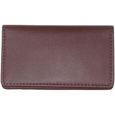 Business Card Case - Top Grain Nappa Leather - Burgundy