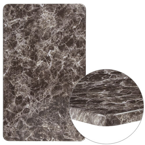 """Our 24"""" x 42"""" Rectangular Gray Marble Laminate Table Top is on sale now."""