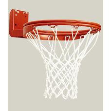 Rear Mount Double-Rim Basketball Goal with No-Tie Netlocks