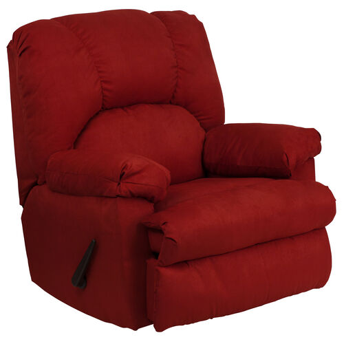 Our Contemporary Montana Garnett Microfiber Suede Rocker Recliner with Pillow Headrest is on sale now.