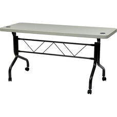 Work Smart Resin Multi Purpose Flip Table with Steel Frame and Locking Casters