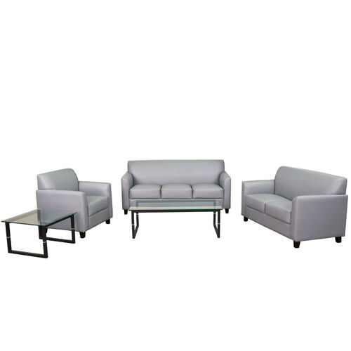 "Our HERCULES Diplomat Series Reception Set in Gray LeatherSoft with <span style=""color:#0000CD;"">Free </span> Tables is on sale now."