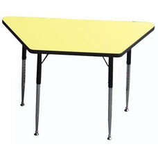 Trapezoid Shaped Particleboard Activity Table - 30