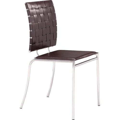 Criss Cross Dining Chair in Espresso