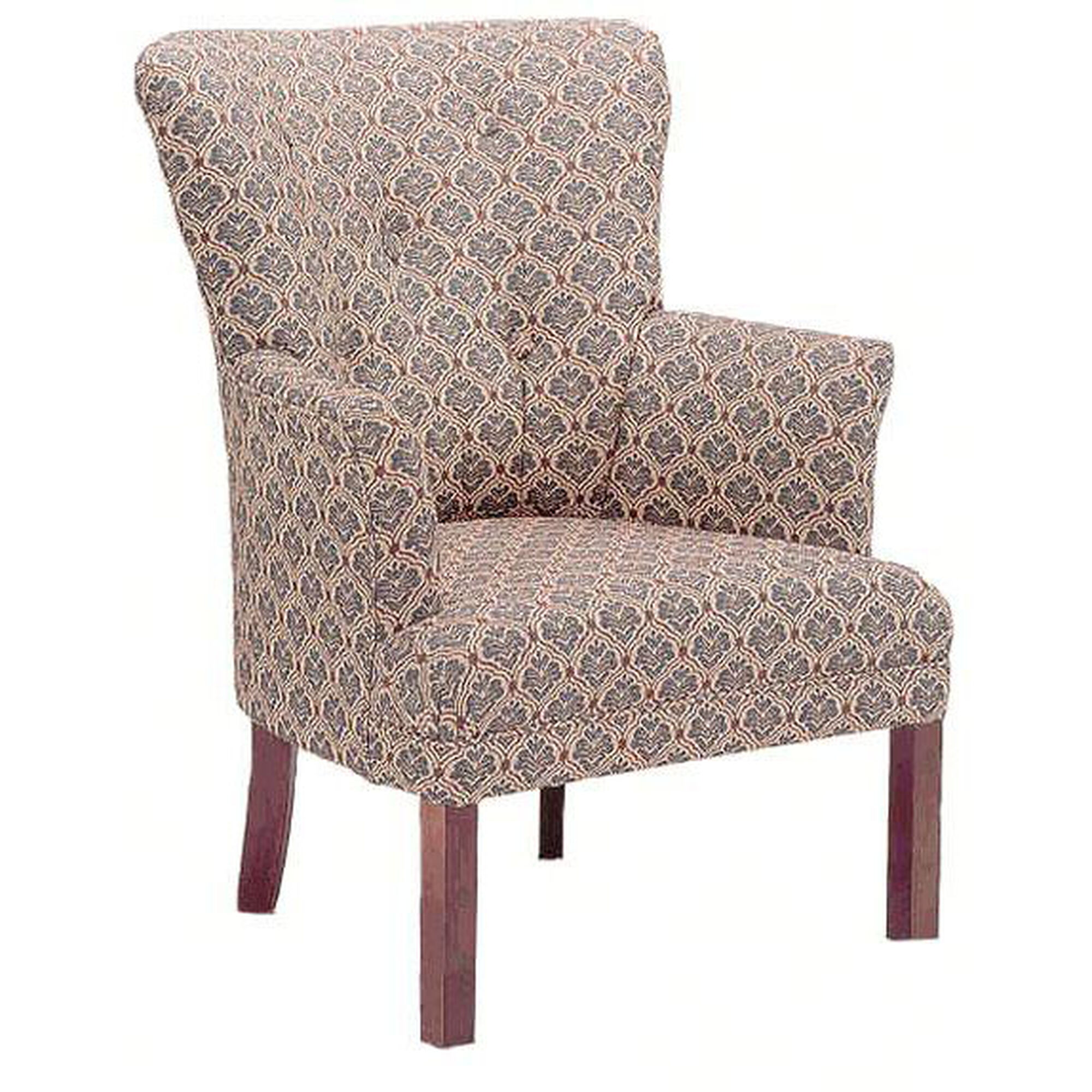 Wood Spring Chairs ~ Upholstered reception chair grade bizchair