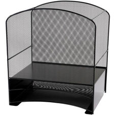 Onyx™ Hanging File with Two Horizontal Sorters Mesh Desk Organizer - Black