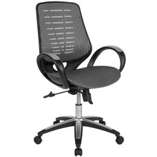 Newton Mid-Back Ergonomic Office Chair with Contemporary Mesh Design in Gray