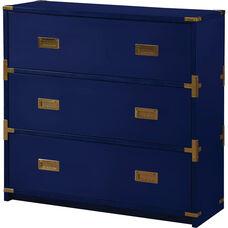 OSP Designs Wellington 3-Drawer Cabinet - Lapis Blue