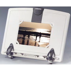 Book and Copy Desktop Stand with Extended Copy Clip - Platinum