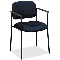 Basyx Mid-Back Stacking Guest Armchair - Navy Fabric