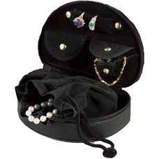 Mini Jewelry Case - Top Grain Nappa Leather - Black