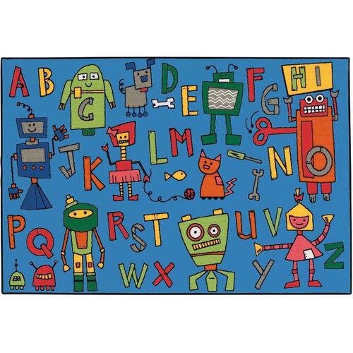 Our Kids Value Reading Robots Rectangular Nylon Rug - 36