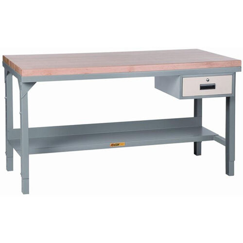 Our Adjustable Height Steel Workbench With Butcher Block Top - 30