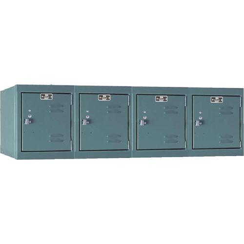 Premium Four Wide Stock Box Locker - Assembled - Wall Mount - 48