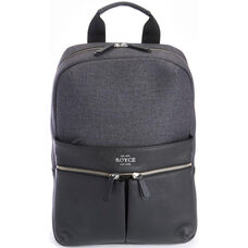 Charged Up Work Backpack - Pebbled Genuine Leather - Black
