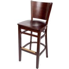 Merion Classic Walnut Wood Barstool - Wood Seat