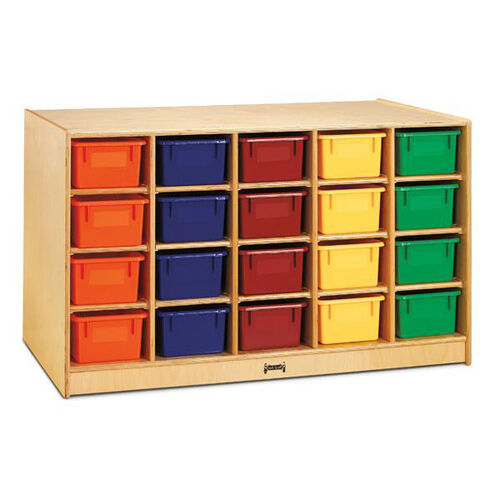 Double-Sided Island - Single + 20 Cubbie Tray with Colored Trays